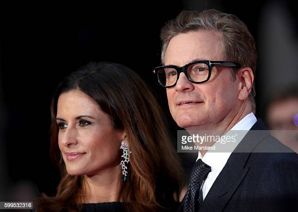 Livia Giuggioli and Colin Firth arrive for the World premiere of 'Bridget Jones's Baby' at Odeon Leicester Square on September 5 2016 in London...