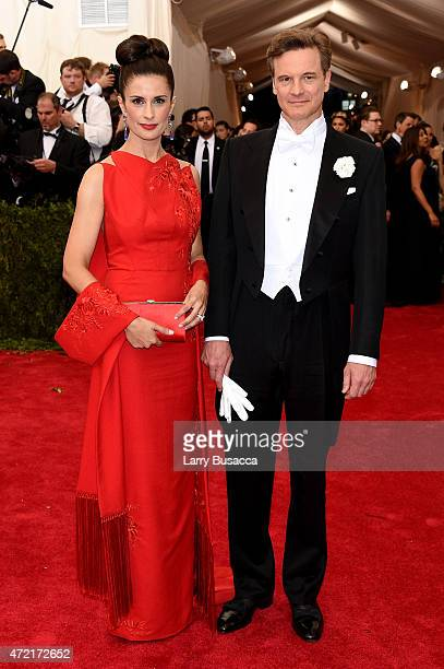 Livia Giuggioli and Colin Firth attend the 'China Through The Looking Glass' Costume Institute Benefit Gala at the Metropolitan Museum of Art on May...