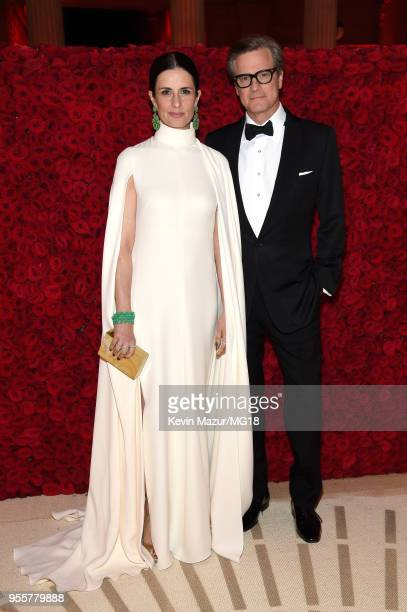 Livia Giuggioli and Colin Firth attend the Heavenly Bodies Fashion The Catholic Imagination Costume Institute Gala at The Metropolitan Museum of Art...