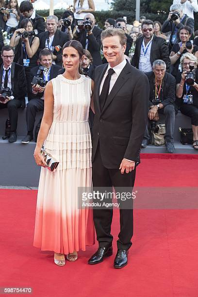 Livia Giuggioli and Colin Firth attend the red carpet of Tom Ford's movie 'Nocturnal Animals' during 73rd Venice Film Festival at Venice Lido Italy...