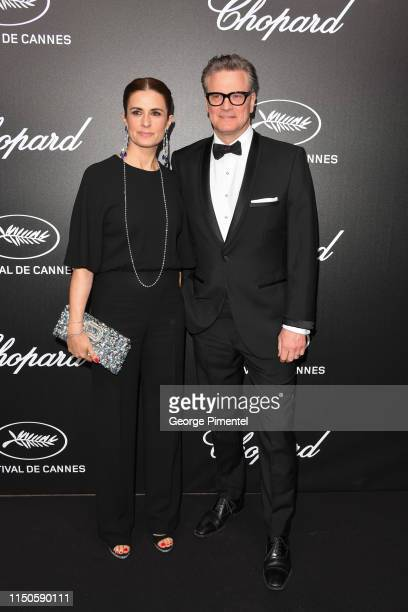Livia Giuggioli and Colin Firth attend the The Chopard Trophy event during the 72nd annual Cannes Film Festival on May 20 2019 in Cannes France