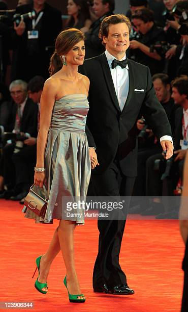 Livia Giuggioli and Colin Firth attend the 'Tinker Tailor Soldier Spy' Premiere at Palazzo del Cinema on September 5 2011 in Venice Italy