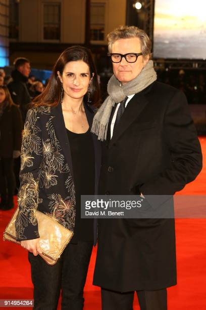 Livia Giuggioli and Colin Firth attend the World Premiere of 'The Mercy' at The Curzon Mayfair on February 6 2018 in London England