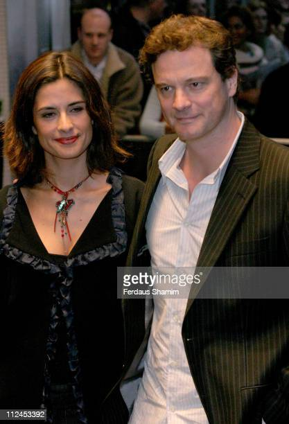 Livia Giuggioli and Colin Firth during The Times BFI London Film Festival 2004 'The Woodsman' Gala Screening at Odeon West End in London England...