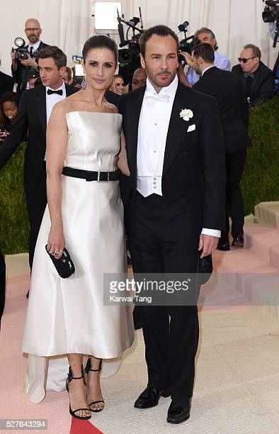 Livia Giuggioli and Tom Ford arrive for the Manus x Machina Fashion In An Age Of Technology Costume Institute Gala at Metropolitan Museum of Art on...