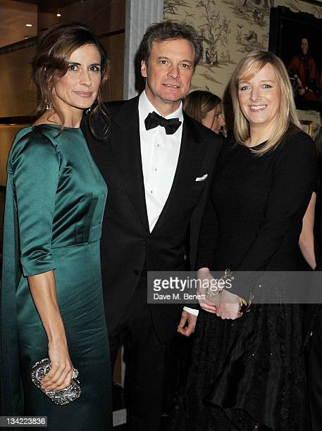 Livia Giuggioli Colin Firth and designer Sarah Burton attend a drinks reception at the British Fashion Awards 2011 held at The Savoy Hotel on...