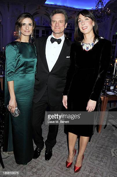 Livia Giuggioli Colin Firth and Samantha Cameron attend a Dinner at the British Fashion Awards 2011 at The Savoy Hotel on November 28 2011 in London...