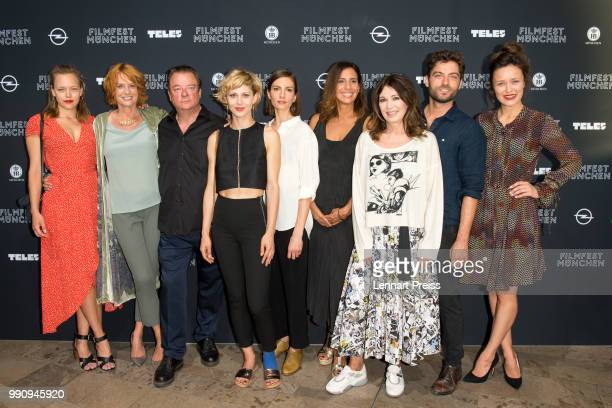 Livia Matthes Nina Grosee Peter Kurth Katharina Schlothauer Samira Radsi Iris Berben Timur Isik and Tinka Fuerst attends the premiere of the first...