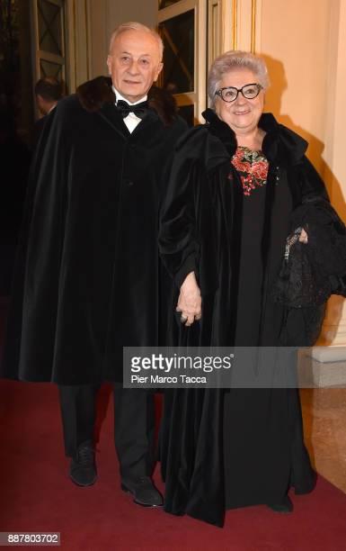 Livia Pomodoro attends the Prima Alla Scala at Teatro Alla Scala on December 7 2017 in Milan Italy