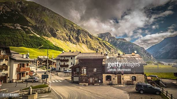 livigno, a typical alps village - jakob montrasio stock pictures, royalty-free photos & images