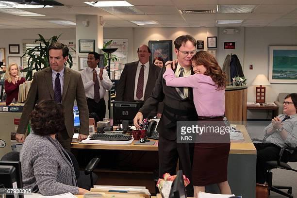 "Livin' The Dream"" Episode 921 -- Pictured: Angela Kinsey as Angela Martin, Ed Helms as Andy Bernard, Oscar Nunez as Oscar Martinez, Brian Baumgartner..."