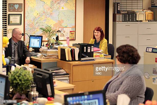 THE OFFICE Livin' The Dream Episode 921 Pictured Creed Bratton as Creed Bratton Kate Flannery as Meredith Palmer