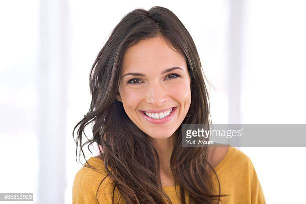 living a happy life - brown hair stock pictures, royalty-free photos & images