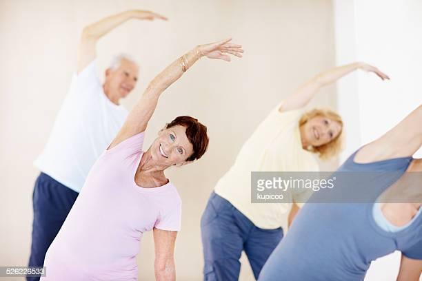 Sala de estar de una vida saludable en la jubilación