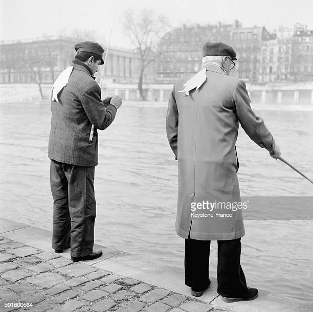 Living April Fool Tradition in Paris France in April 1 1963