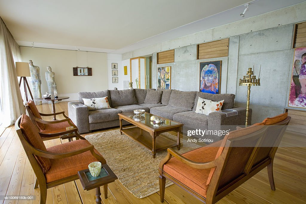 Living area of contemporary house : Stockfoto