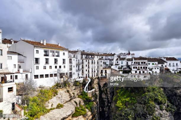Leben am Rand der Klippe, Ronda, Andalusien, Spanien