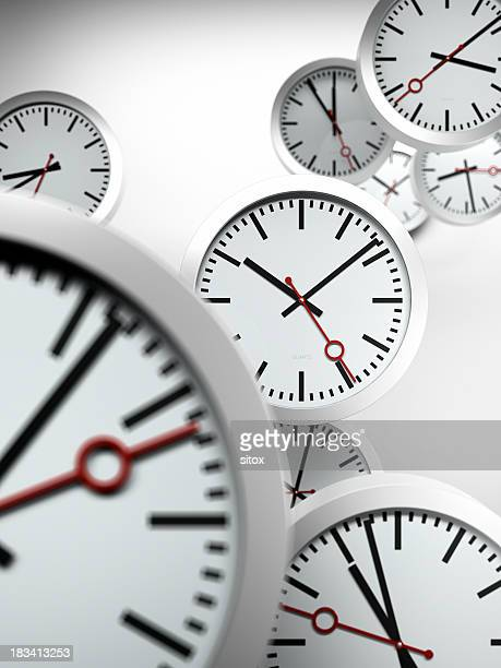 living by the clock - time management stock photos and pictures