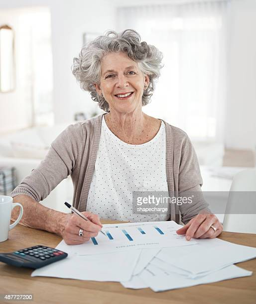 Living comfortably off her pension