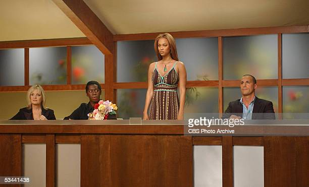 living fashion icon Twiggy runway expert J Alexander creator and executive producer Tyra Banks and photographer Nigel Barker serve as the panel of...