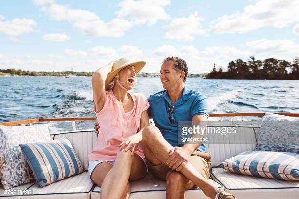 living happily ever after out on a lake - sailor stock pictures, royalty-free photos & images