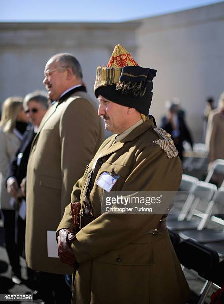 Living historian Andy Smerdon dressed in the uniform of The 1st Horse Indian Army cavalry regiment takes part in a Service of Remembrance to mark the...