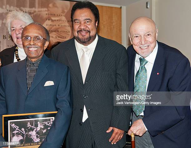 Living Legend Award recipients Jimmy Heath and George Avakian with ASCAP Board Member George Duke at the ASCAP Jazz Wall of Fame Induction Ceremony...