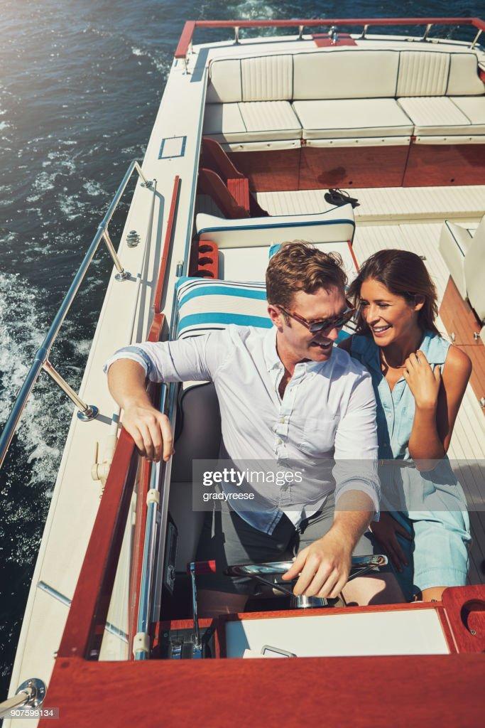 Living life on the high seas : Stock Photo