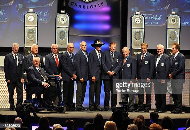 Living members of the NASCAR Hall of Fame Glen Wood Junior Johnson Maurice Petty Dale Inman Ned Jarrett Dale Jarrett Richard Petty Bud Moore Jack...