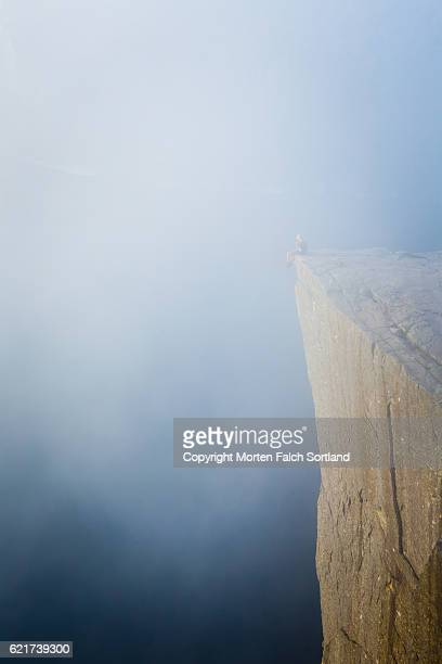 Living on the edge at Preikestolen, Norway