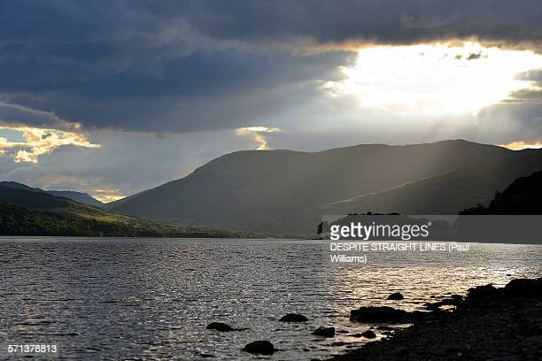 living on the edge of the night - lough erne stock photos and pictures