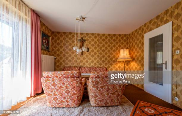 living room 70's style - the past stock pictures, royalty-free photos & images