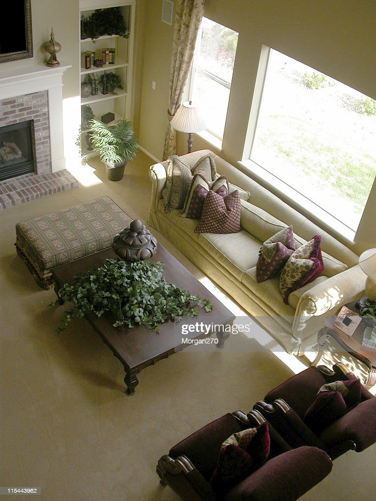 Living Room Aerial View Stock Photo Getty Images