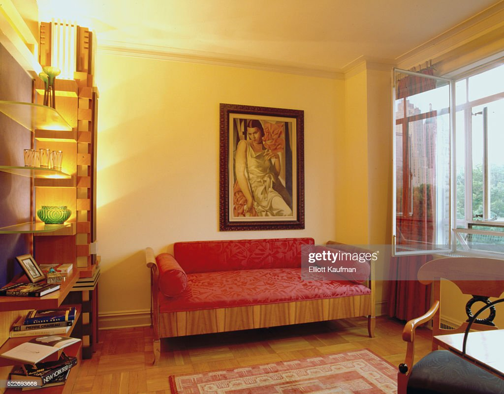 Living Room And Office Space With An Art Deco Feel. : Stock Photo
