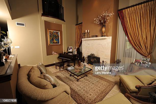 Living room at Jon Secada's home on January 13 2011 in Coral Gables Florida