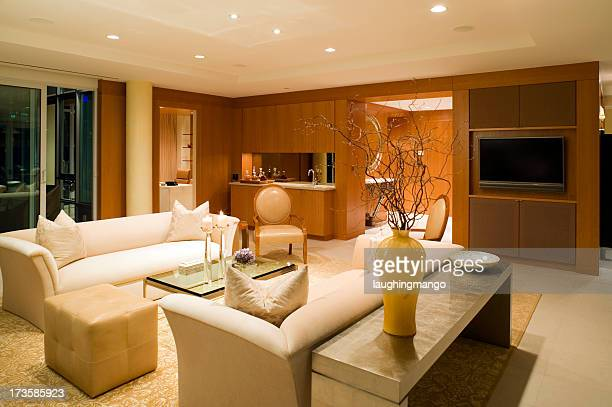 living room couch - feng shui stock photos and pictures