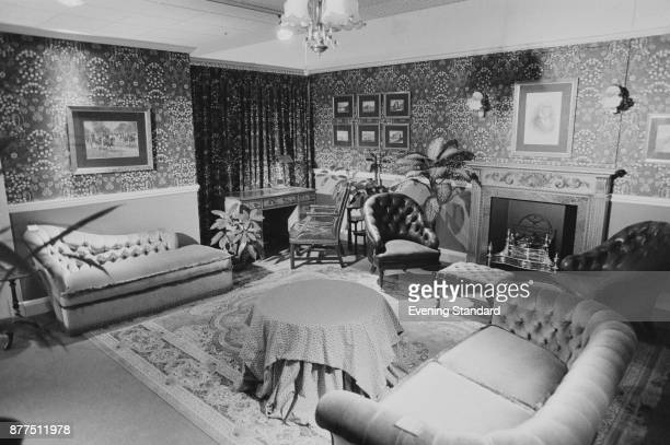 A living room decorated with Maple Co furniture UK 13th October 1978