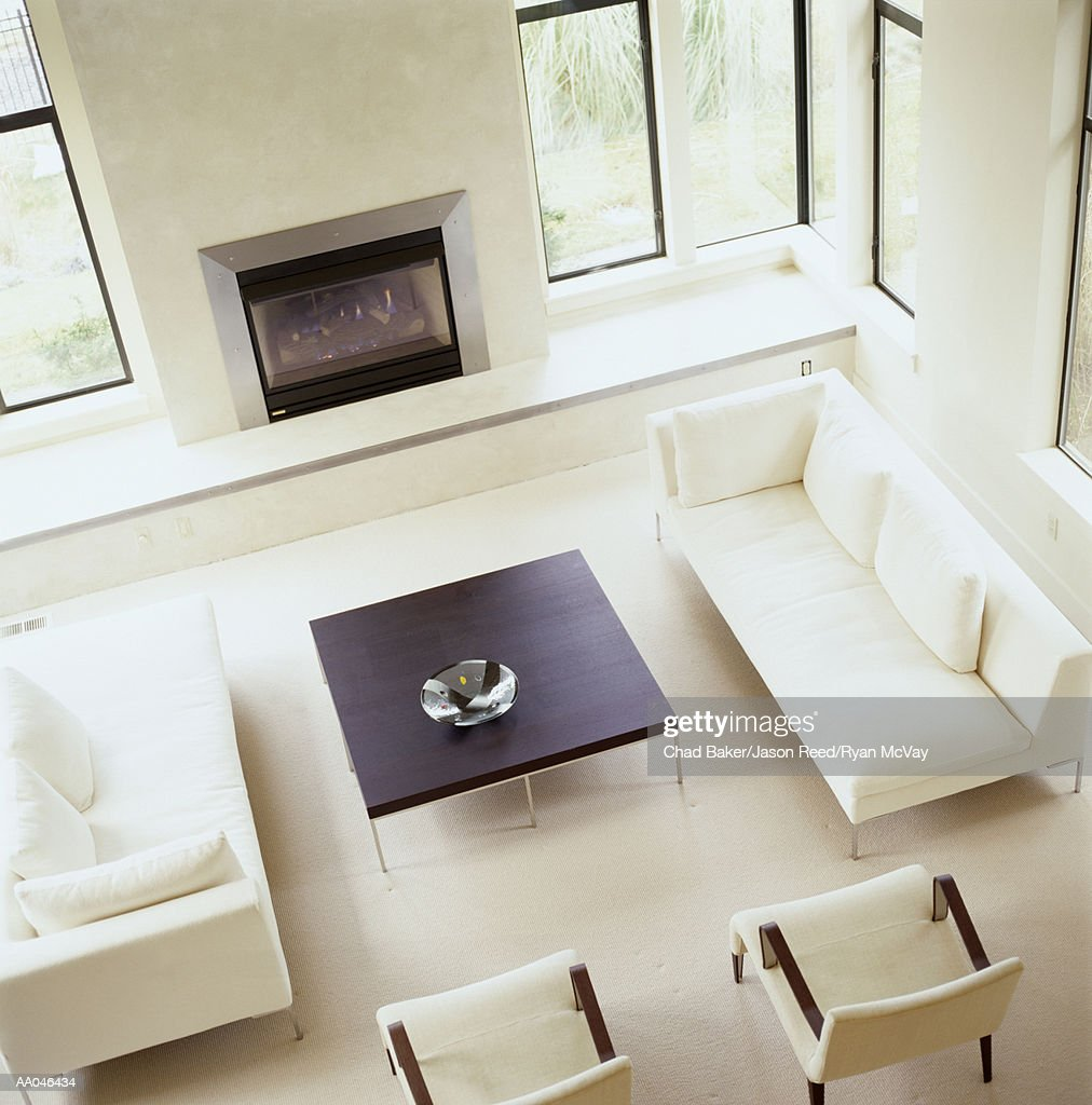 Living room, elevated view : Stock Photo