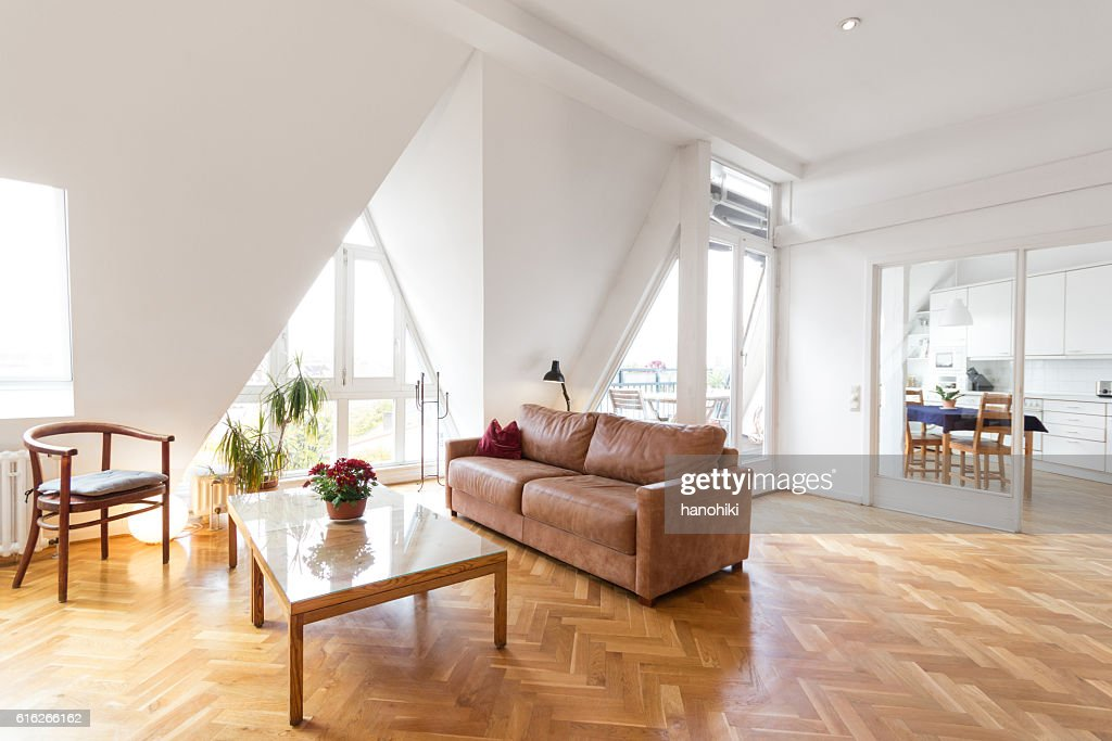 living room in beautiful apartment home : Stock Photo