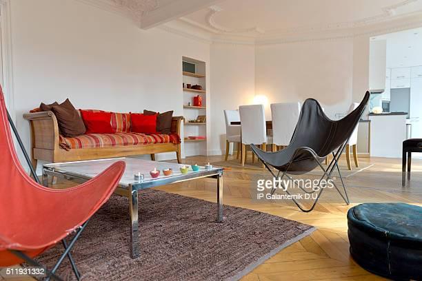 La salle de séjour de luxe dans