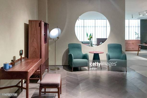 living room in modern home - chinese decoration stock pictures, royalty-free photos & images