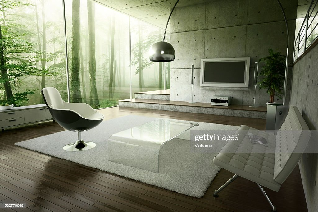 Living room in the forest : ストックフォト