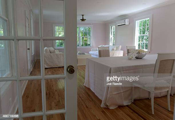 A living room in the former home of Al Capone is seen during a tour of the historic house on March 18 2015 in Miami Beach Florida The home being...