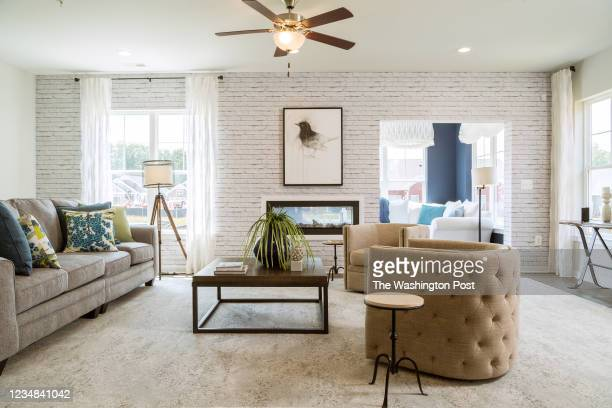 Living Room in the Waverly Model Home at Hawthorne Greene on August 10, 2021 in La Plata Maryland.