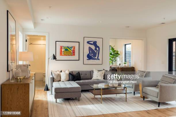 Living Room in Unit 101 at District Quarters on October 1, 2020 in Washington DC.