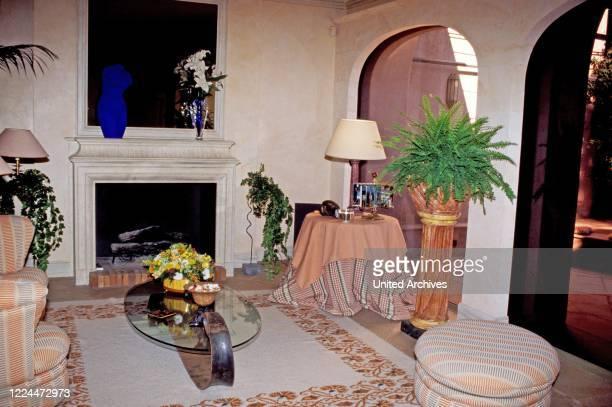 Living room of Gunter Sachs estate in Sankt Tropez France 2004