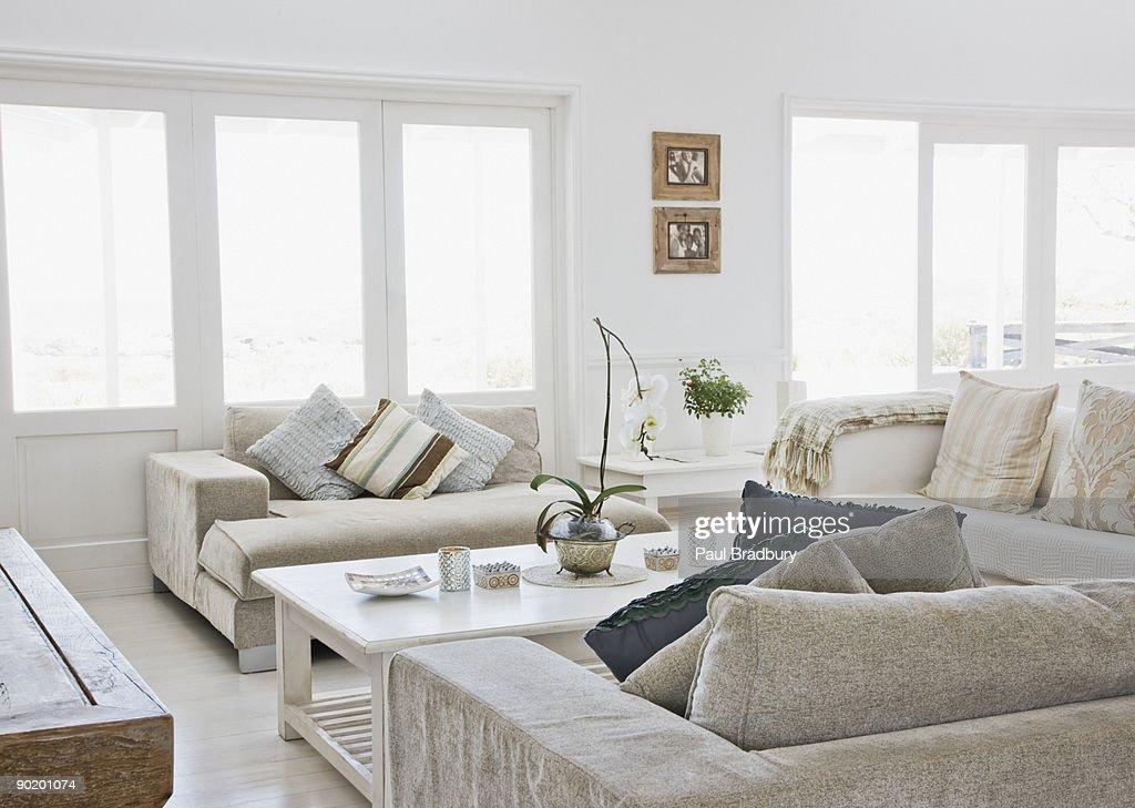 Living room of modern home : Stock Photo