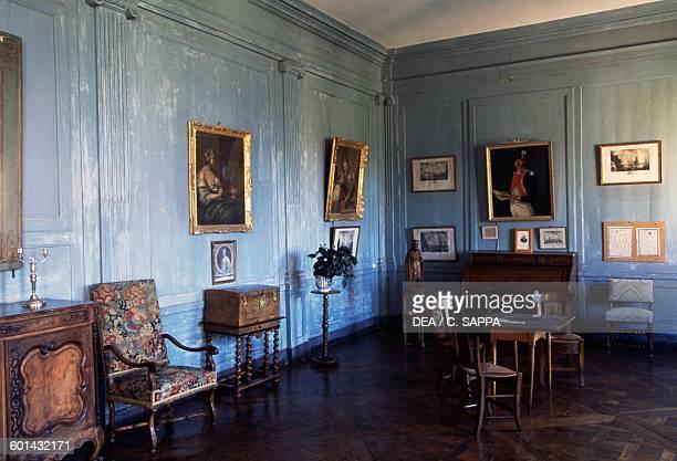 Living room of the Chateau de Ravel Auvergne France