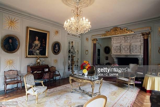 Living room of the Chateau de TerreNeuve FontenayleComte Loire Valley Pays de la Loire France
