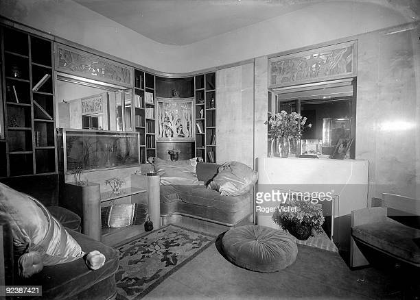 Living room of the 'Martine' shop decorated by Paul Poiret , French top designer and decorator. Paris, Grand-Palais, International Exhibition for...